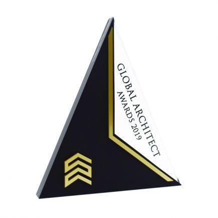 Pyramid Award Gold Finish