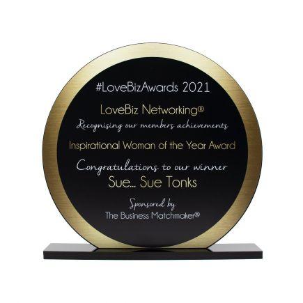 Large Round Acrylic Award